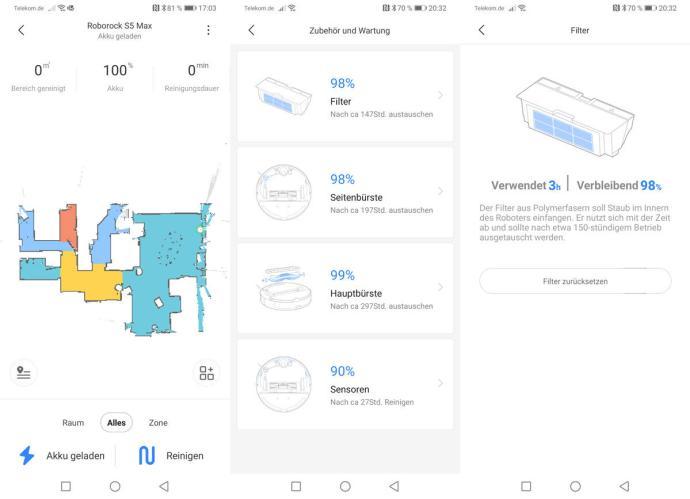 Roborock App Zweite Schritte