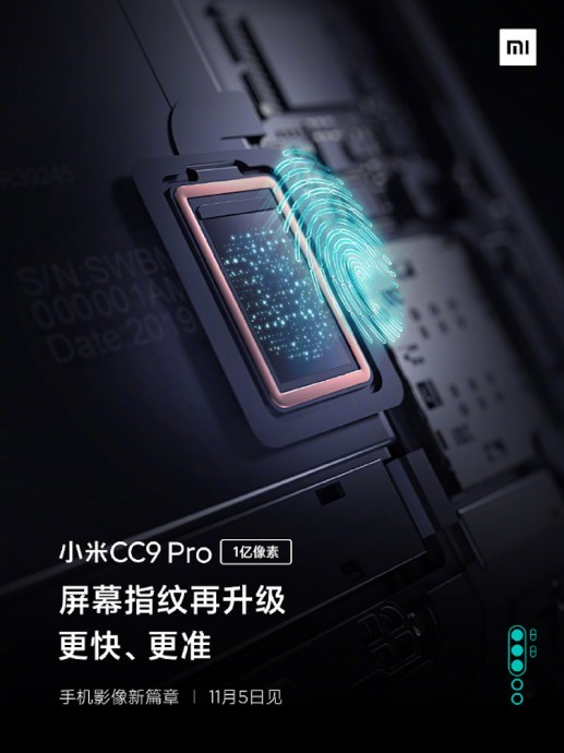 Xiaomi Mi Note 10 Fingerabdruck