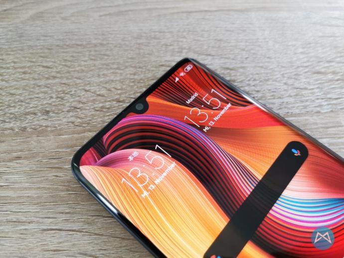 Xiaomi Note 10 Frontseite Display Kamera