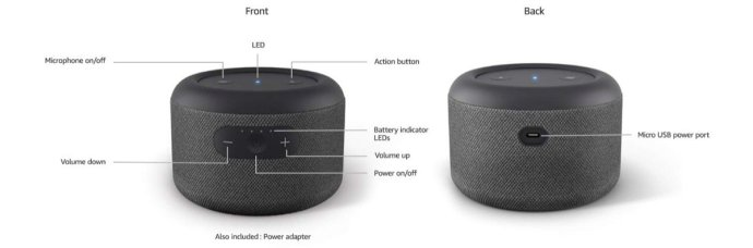 Amazon Echo Input Portable Specs