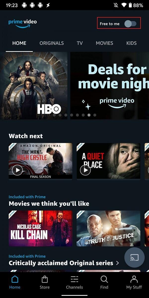 Amazon Prime Video Free To Me