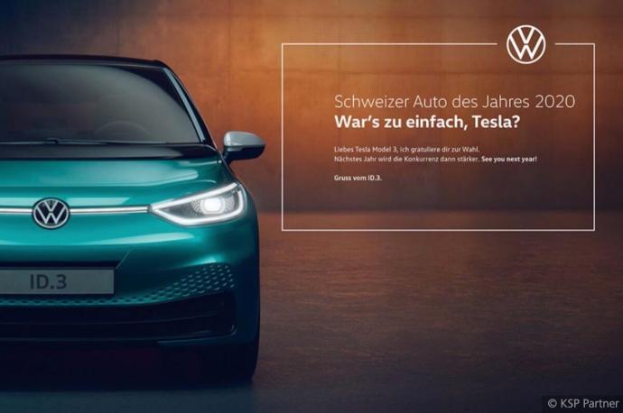 Vw Id 3 Tesla Model 3 Werbung