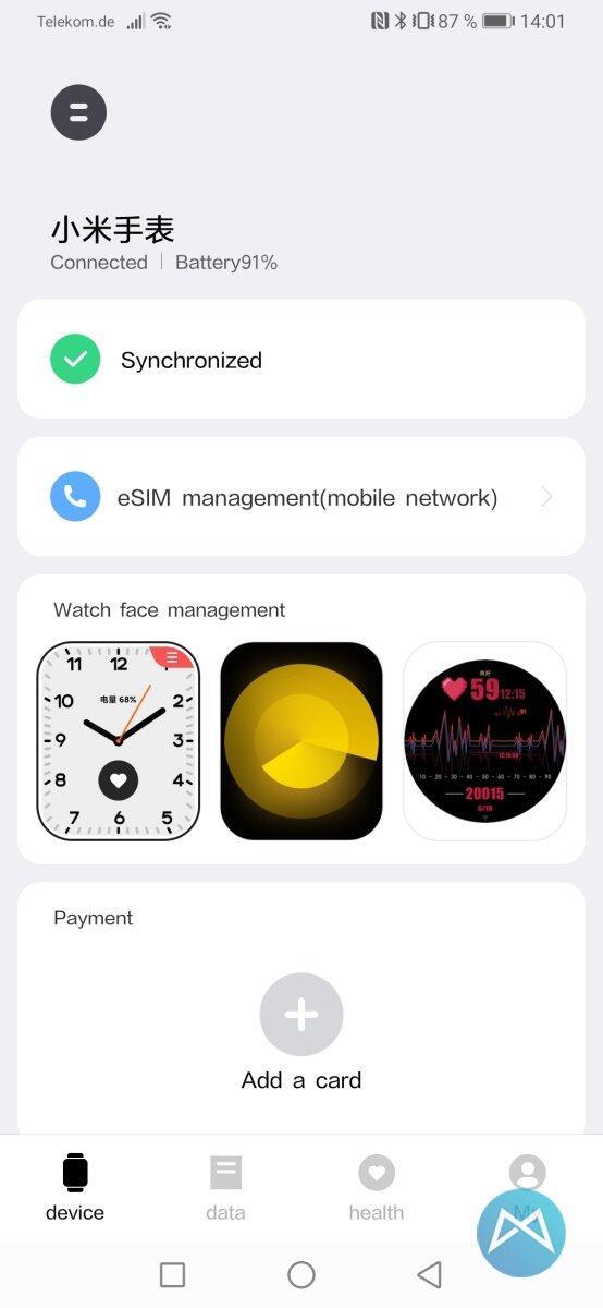 Xiaomi Mi Watch 3100 Mi App