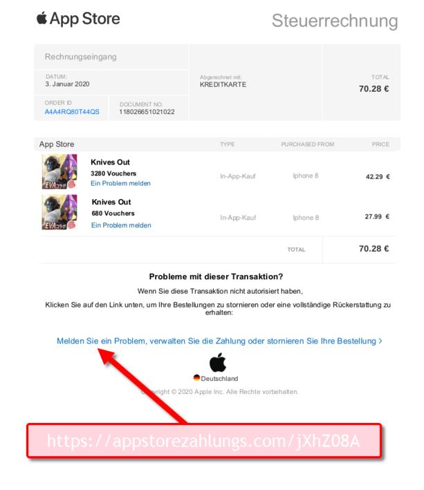 Apple Mail Falsch