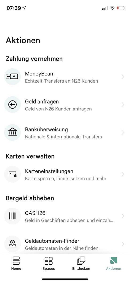 N26 App Update 2