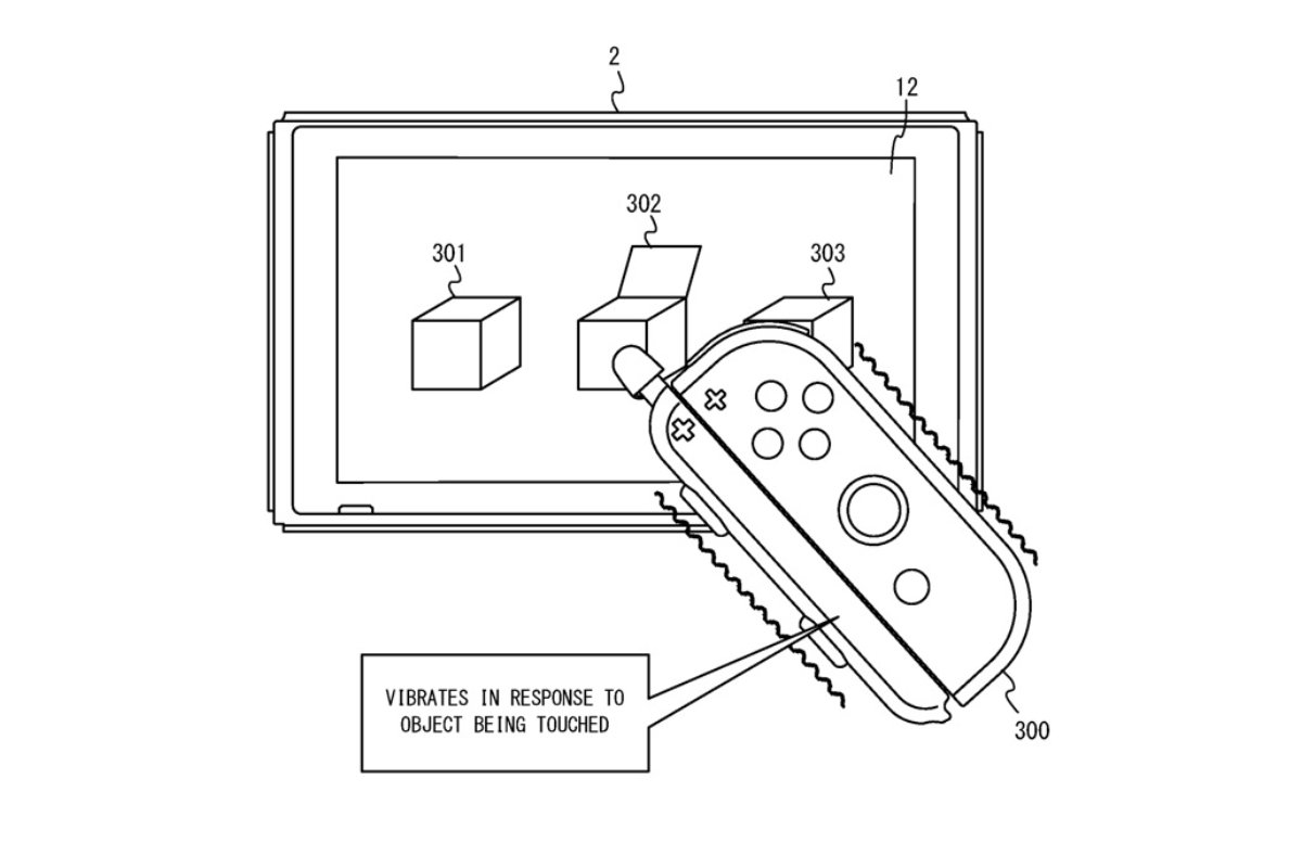Nintendo Switch Joy Con Pen Patent Header
