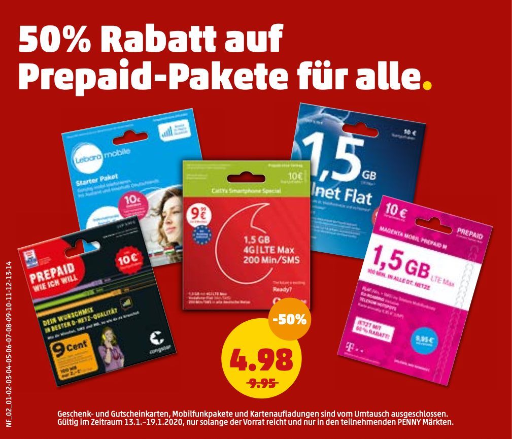 Penny Prepaid Rabatt Start
