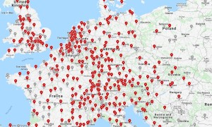 Tesla Supercharger Karte