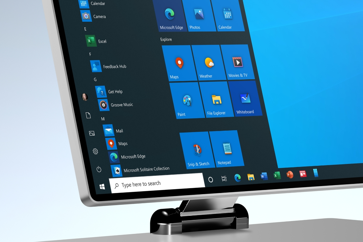 Microsoft Windows Surface Header