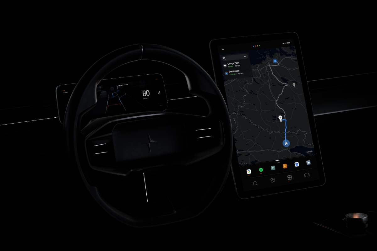 Polestar Google Android Auto Header