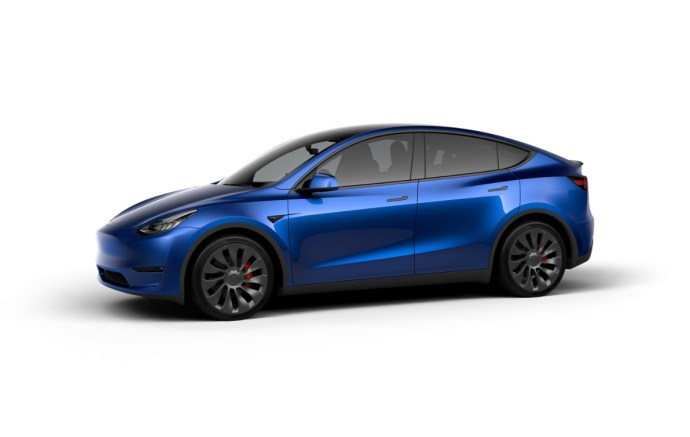 Tesla Model Y Blue Header