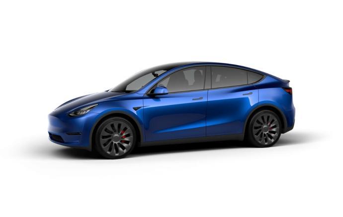 Tesla Model Y Blue Header