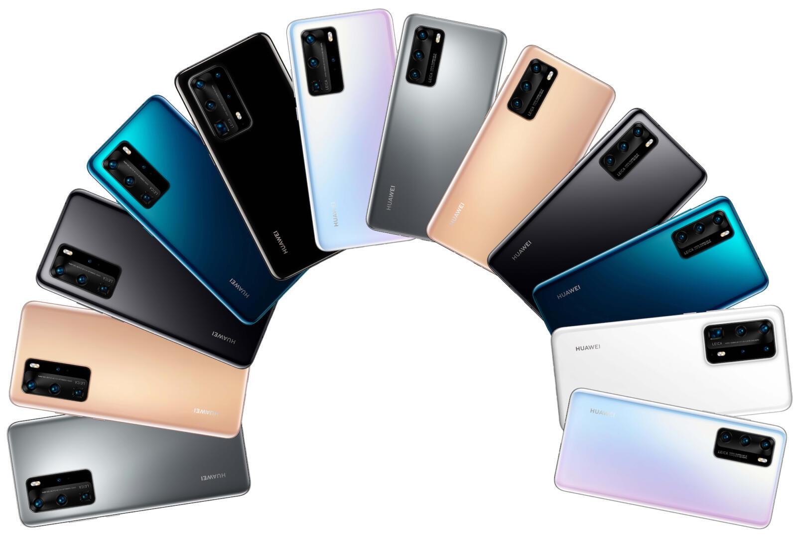 Huawei P40 Lineup Farben