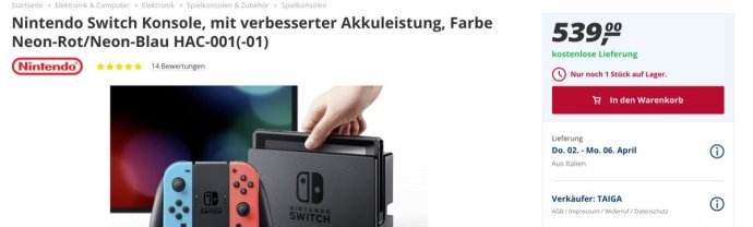 Nintendo Switch Real