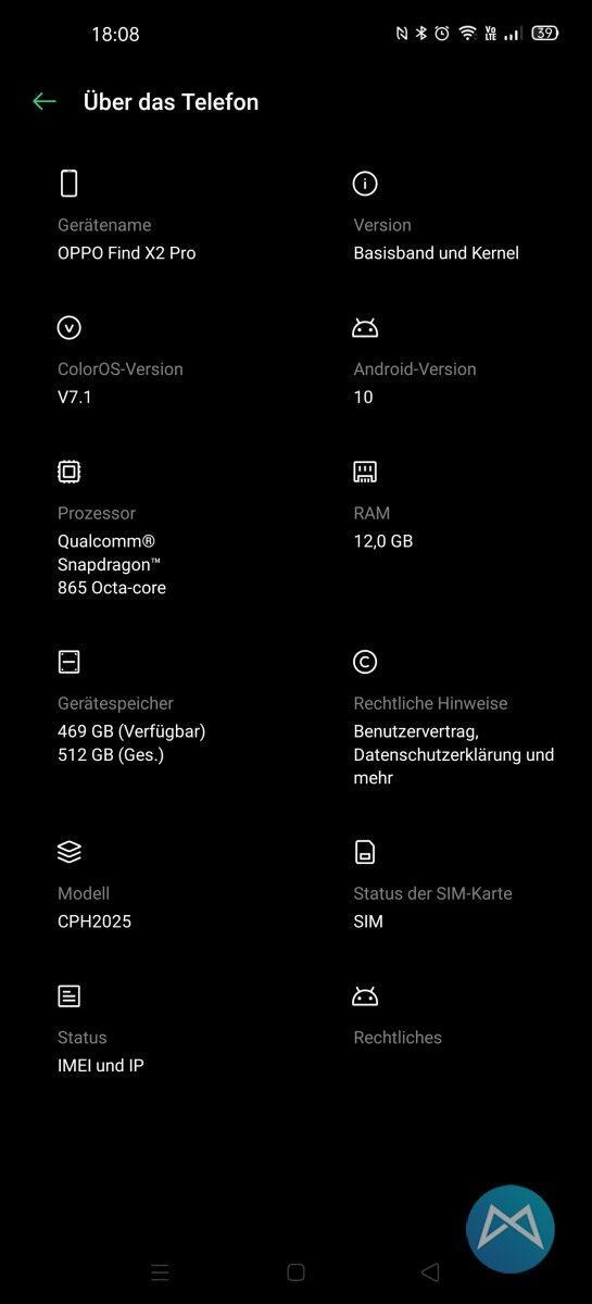 Oppo Find X2 Pro App Uebersicht