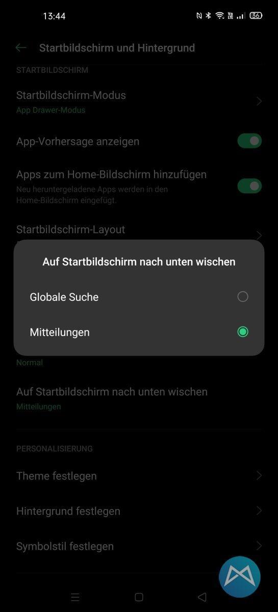 Oppo Find X2 Pro Mitteilungen