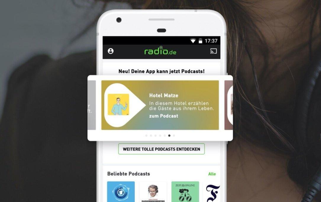 Radio.de Podcast App Screenshot