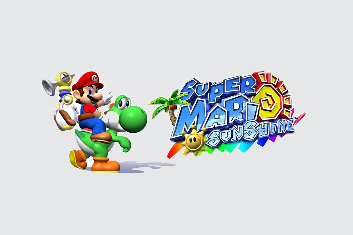Super Mario Sunshine Header
