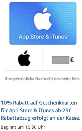 App Store Itunes Rabatt Amazon