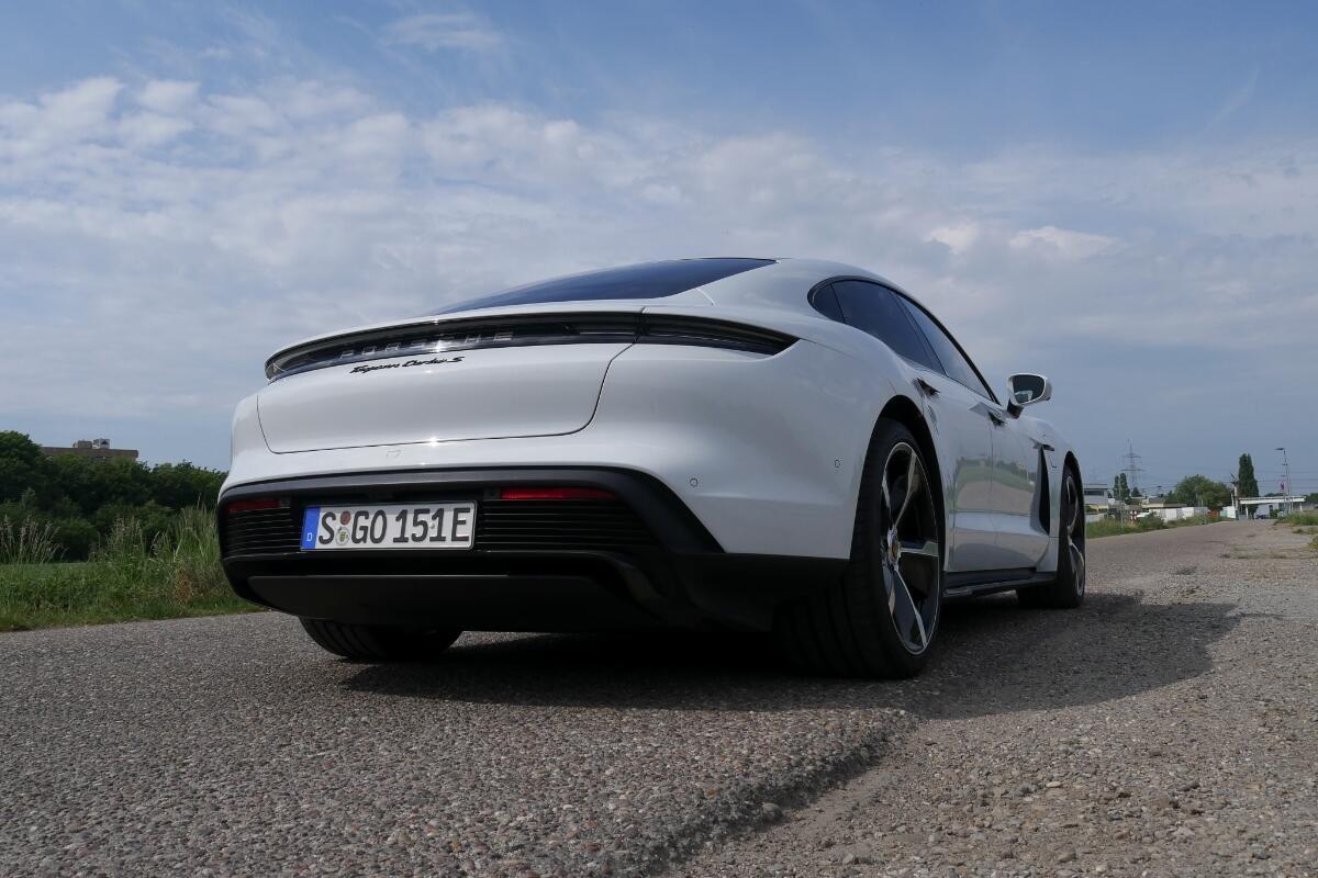 Porsche Taycan Turbo S Back Side