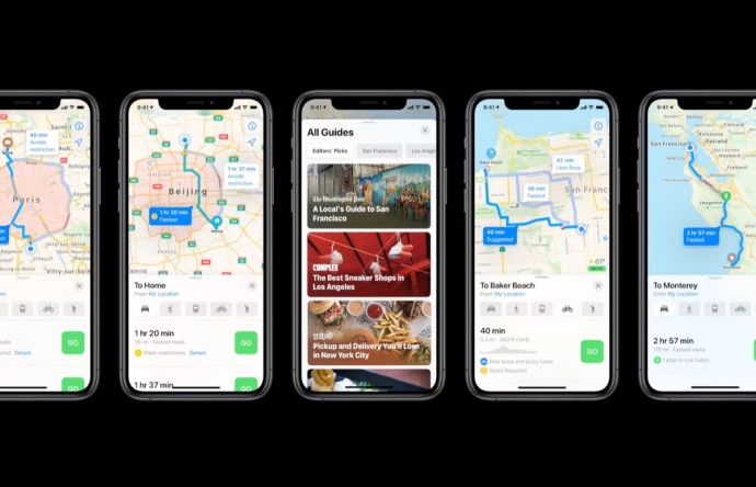 Apple Maps 2020