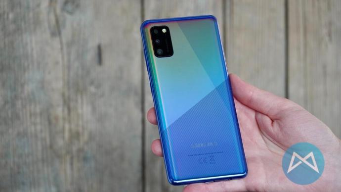 Galaxy A41 Blau Muster