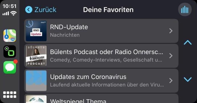 Radiode Carplay Podcasts Favoriten