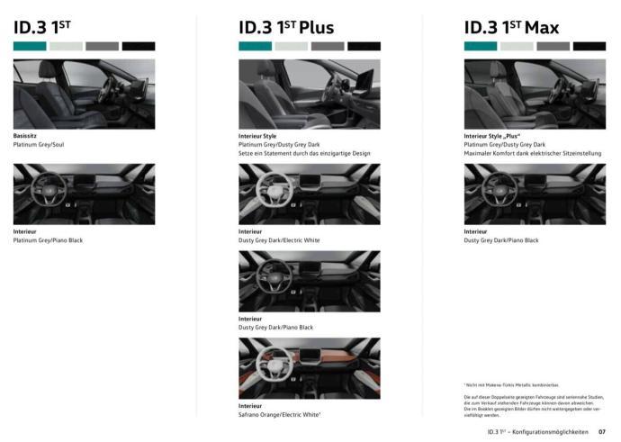 Vw Id3 1st Innenraum Optionen