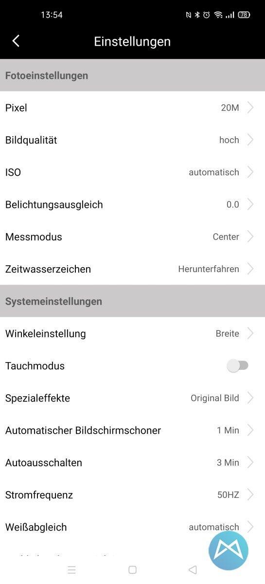 Akaso Brave 7 Le App Settings 2