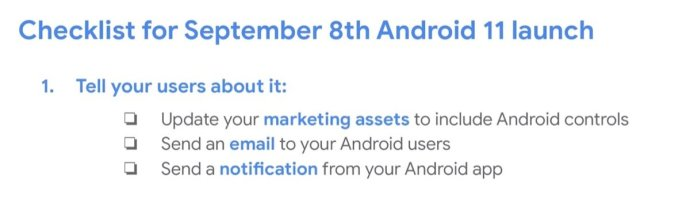 Android 11 September