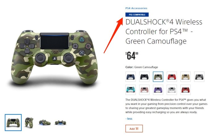 Sony Ps4 Controller Ps5