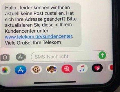 Telekom Adress Fehler