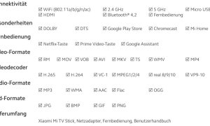 Xiaomi Mi Tv Stick Specs