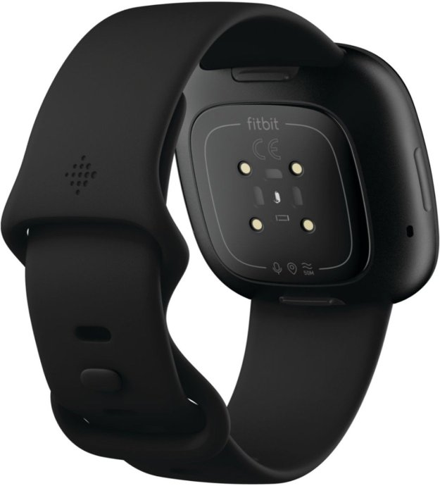 Fitbit Versa Schwarz Hinten