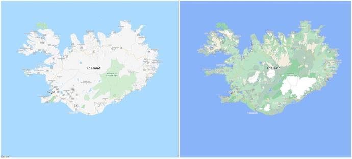 Iceland Google Maps