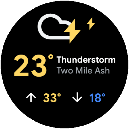 Wear Os Weather Tile 3