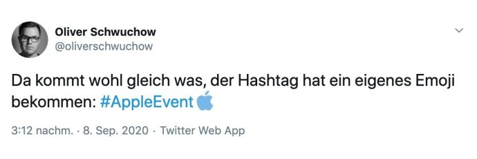 Apple Event Hashtag