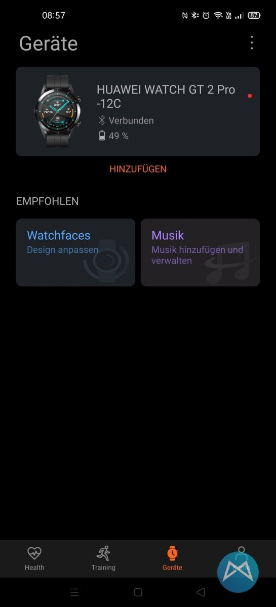 Huawei Watch Gt 2 Pro Health App Geraete Uebersicht