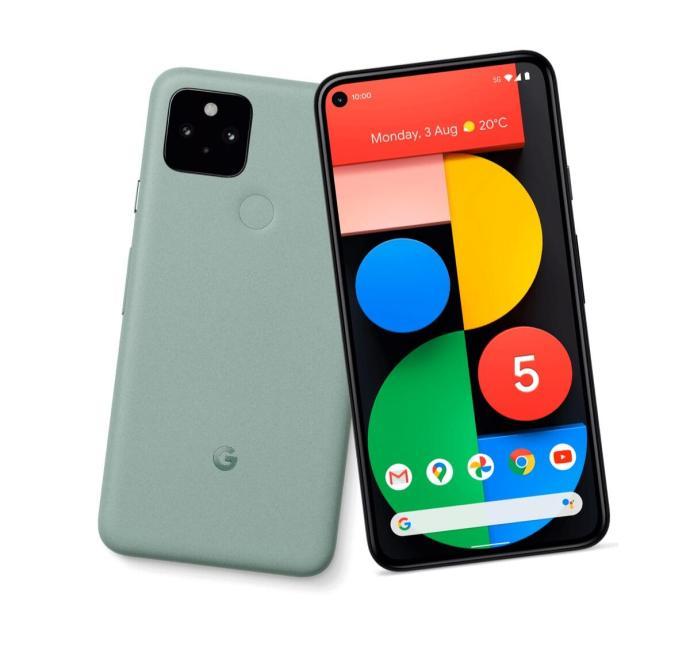 Pixel 5 Green Front