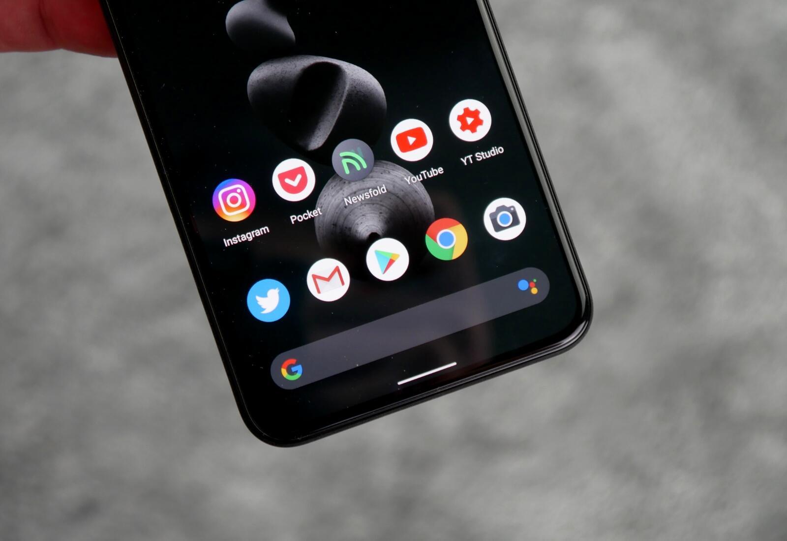 Google Pixel 5 Homescreen