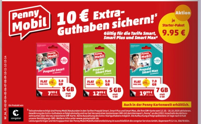 Penny Mobil 10 Eur Bonus Guthaben