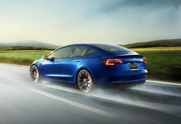 Tesla Model 3 2021 Blau Header