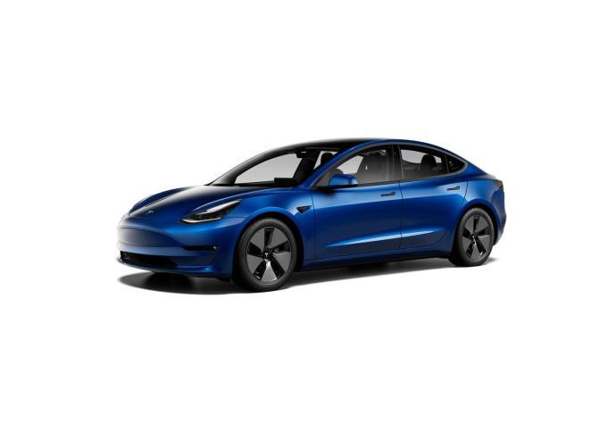 Tesla Model 3 2021 Blau