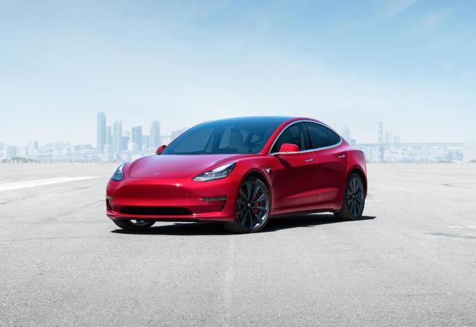 Tesla Model 3 Rot Header