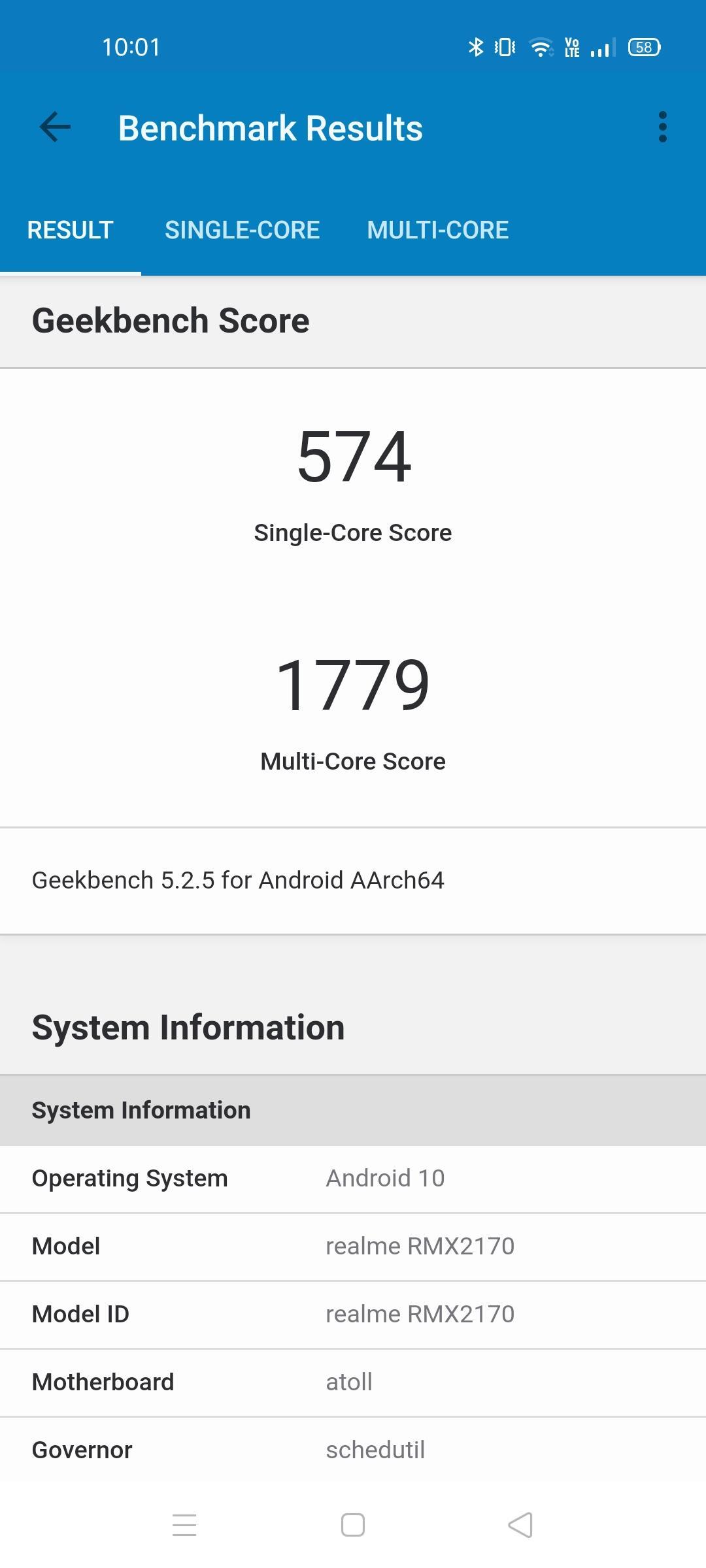 Geekbench Realme 7 Pro