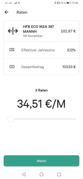 N26 Raten Zahlung App 2