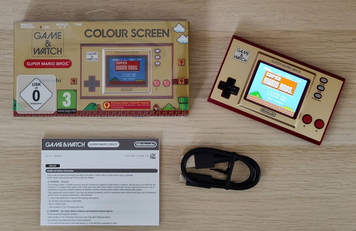 Nintendo Game And Watch Super Mario Edition 2020 Lieferumfang