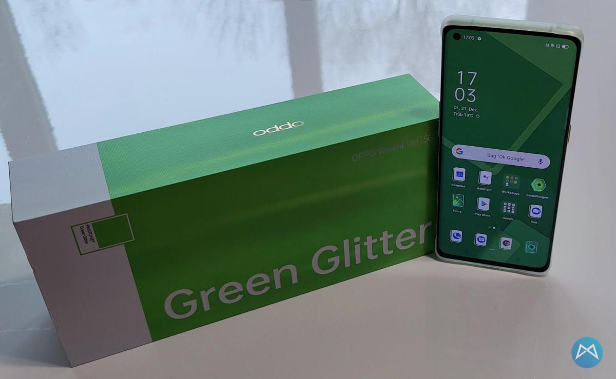 Oppo Reno4 Pro 5g Green Glitter (10)