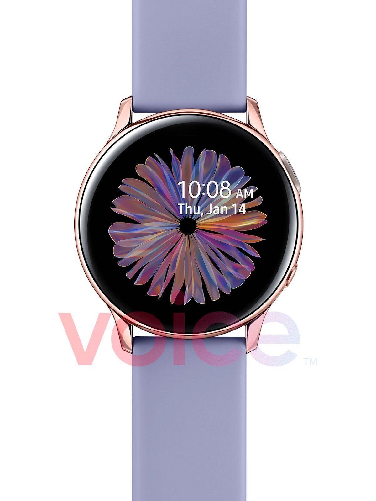 Samsung Galaxy Watch Active 2 Rosegold Leak