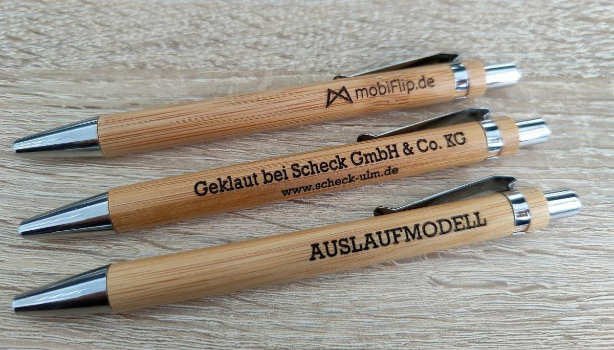 Kugelschreiber Bambus Laser Schleifen Und Oel